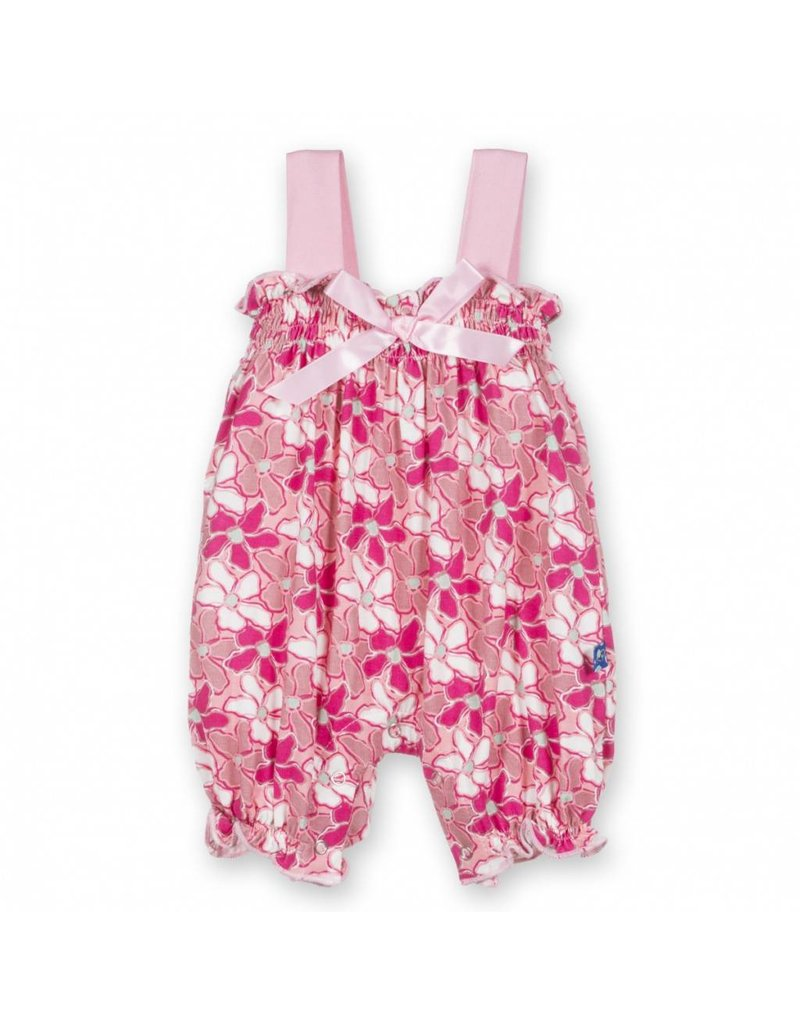 KicKee Pants Gathered Romper with Bow