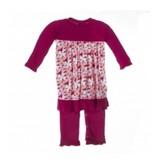 KicKee Pants Print Dress Romper Apple Blossom 12-18 mo