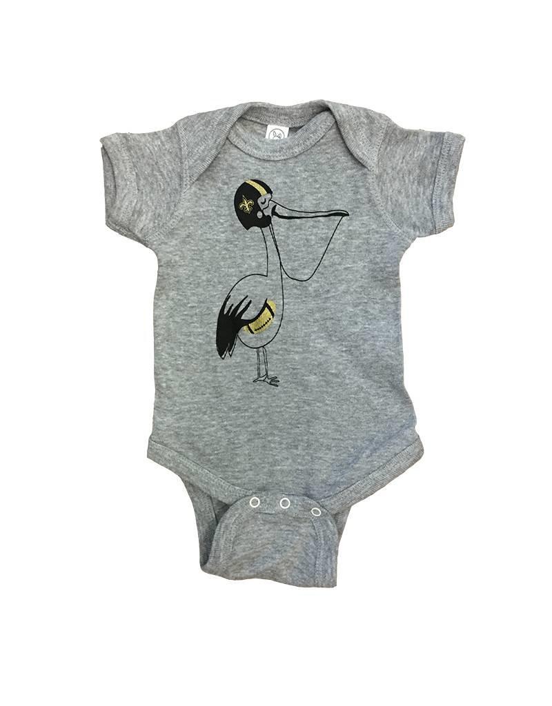 Le Petitee Le Petitee Saints Pelican Onesie