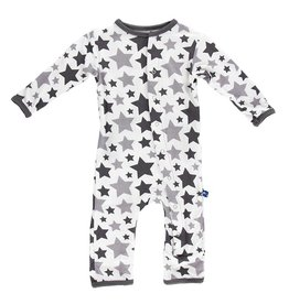 KicKee Pants KicKee Pants Essentials Bamboo Print Coverall Feather/Rain Stars