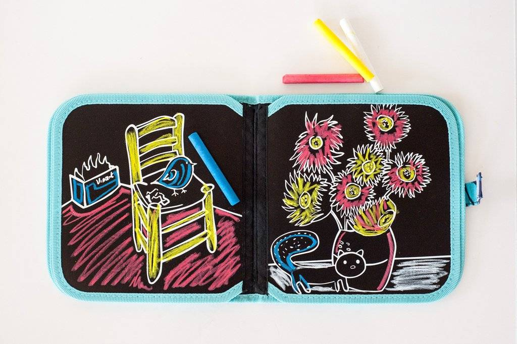Jaq Jaq Bird Chalk Color It Book