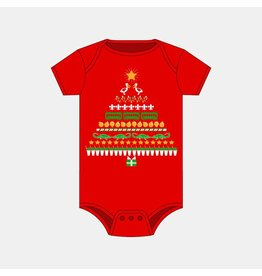 Bon Temps Boutique NOLA Christmas Tree Onesie
