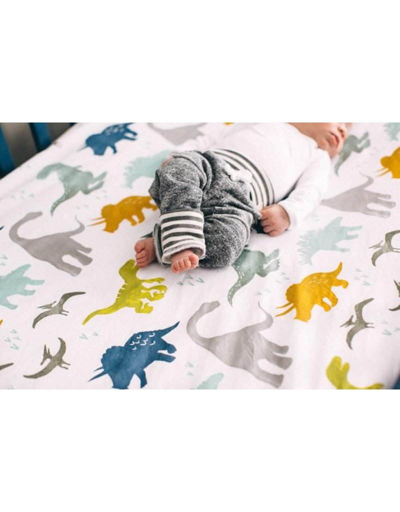 little unicorn Brushed Muslin Crib Sheet