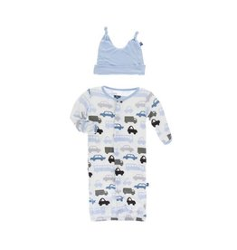 KicKee Pants KicKee Pants Print Layette Gown Converter & Knot Hat