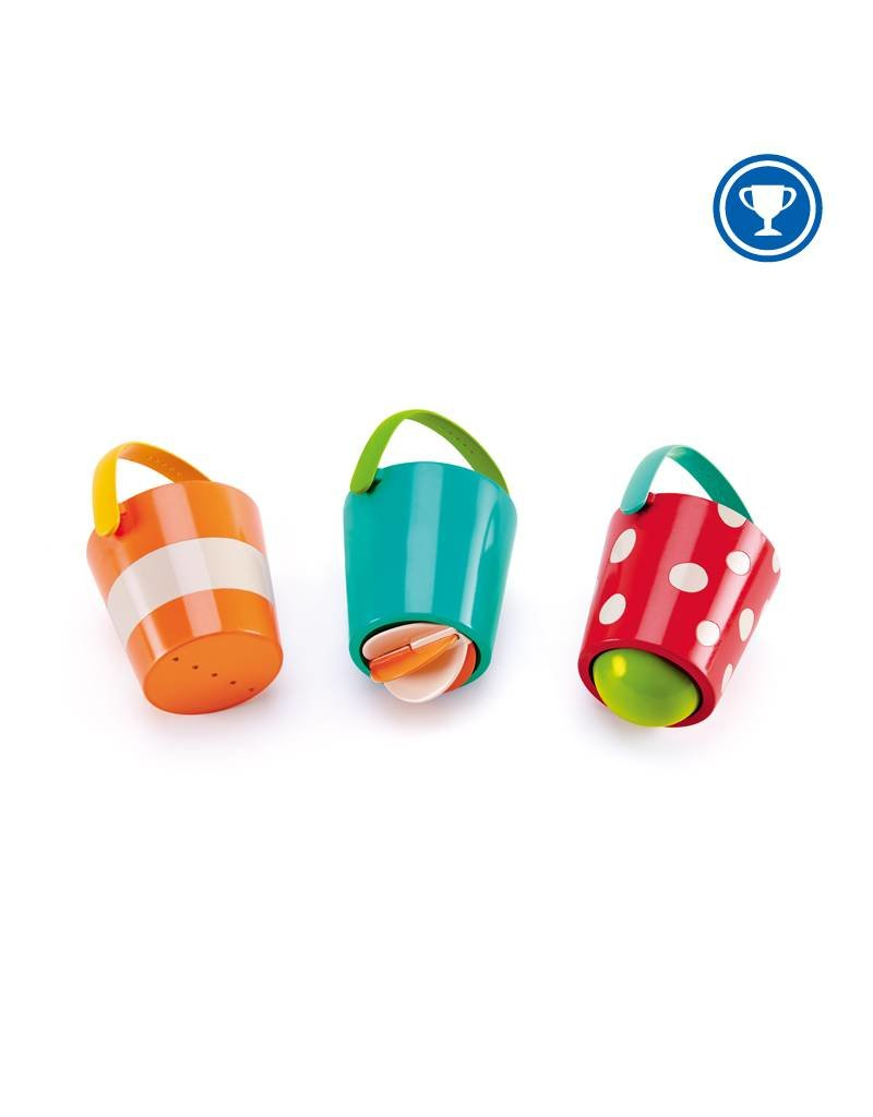 Hape Happy Buckets Bath Toys Set