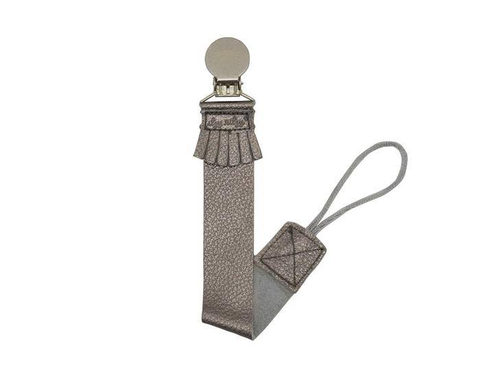 Itzy Ritzy Leather Pacifier Clip