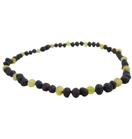The Amber Monkey Amber Teething Necklace - Screw Clasp - Multicolor