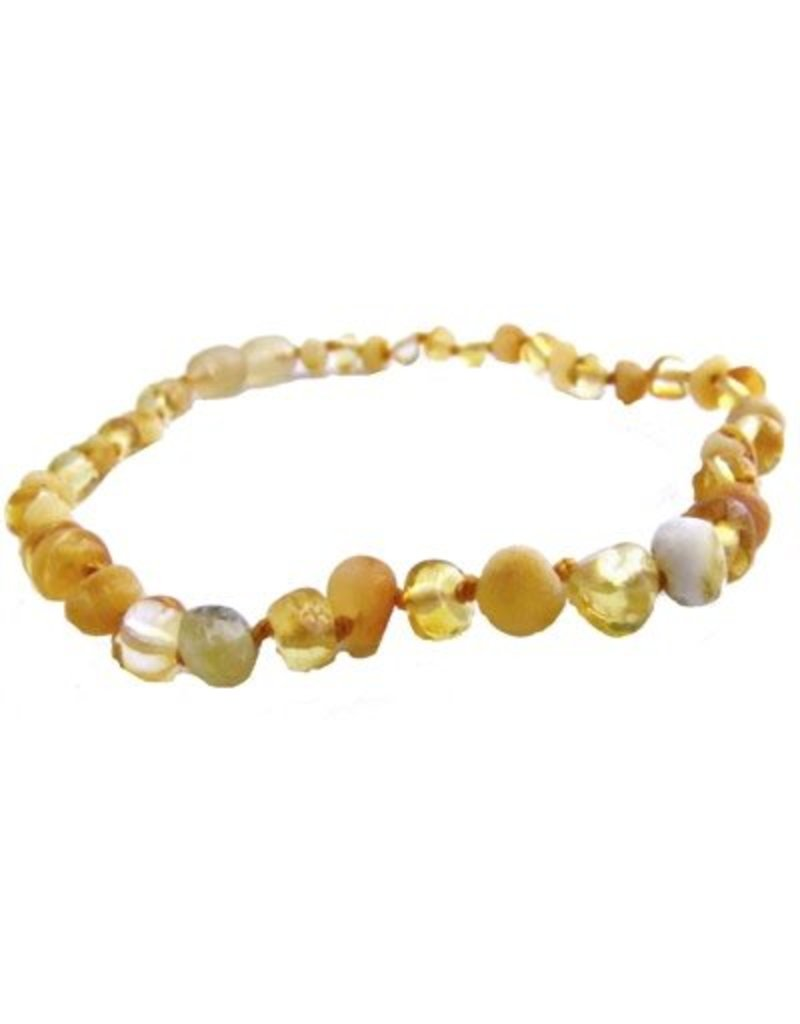 The Amber Monkey 12-13 in. Amber Teething Necklace - Screw Clasp - Multicolor