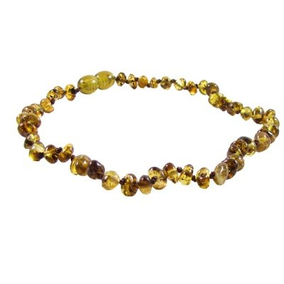 The Amber Monkey The Amber Monkey 12-13 in. Amber Teething Necklace - Pop Clasp - Polished