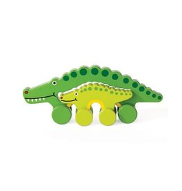Jack Rabbit Creations Mommy & Baby Alligator Pull Toy