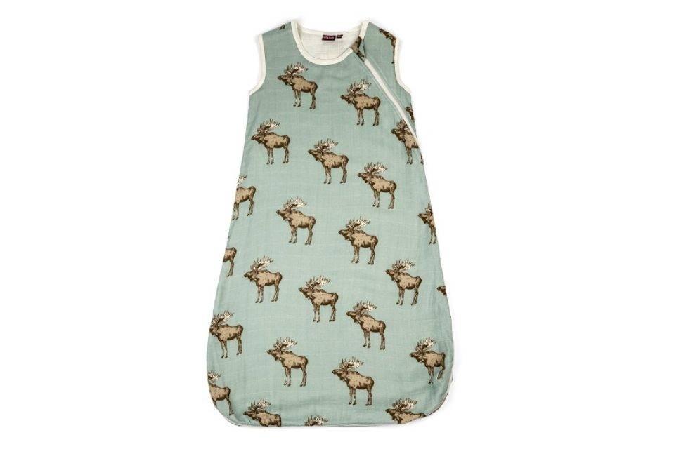 Milkbarn Organic Plush Bamboo Sleep Bag - Moose