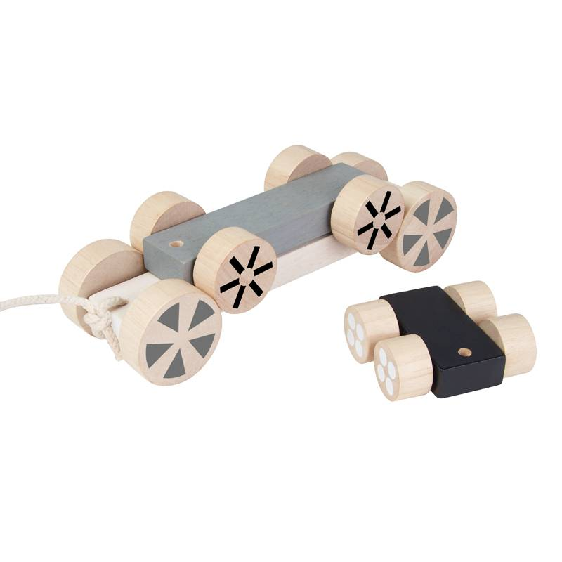 PlanToys Stacking Wheels Rolling Pull Car