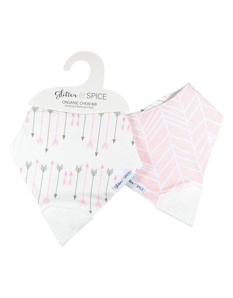 glitter and spice Organic Chew Bib - Double-sided
