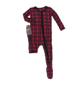 KicKee Pants Kickee Pants Classic Ruffle Footie with Zipper in Plaid
