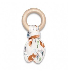 Apple Park Organic Fabric Teething Ring