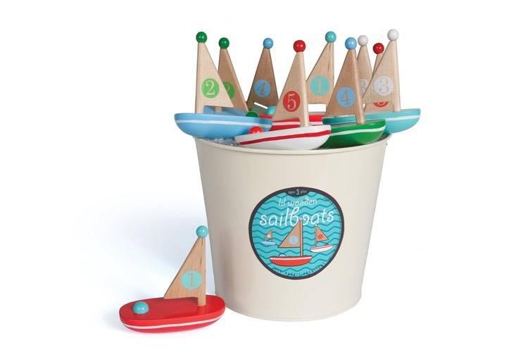 Jack Rabbit Creations Little Wooden Sail Boat