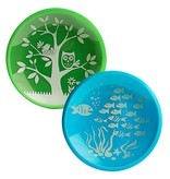Brinware Tempered Glass and Silicone Dish Set- Fish and Owl