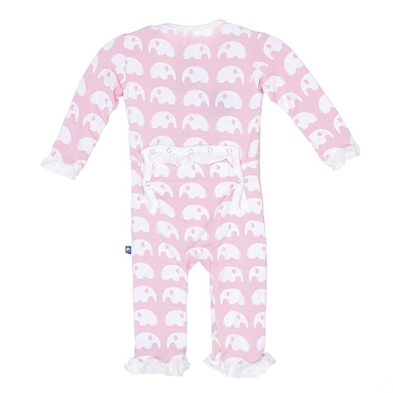 KicKee Pants KicKee Pants Ruffle Coverall in Lotus Elephant