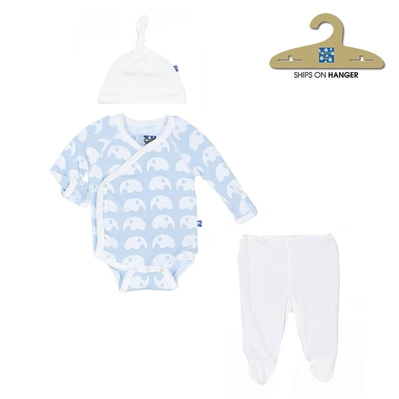 KicKee Pants KicKee Pants Kimono Gift Set in Pond Elephant