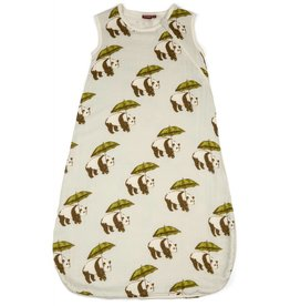 Milkbarn Plush Bamboo Sleeping Bag in Blue Panda