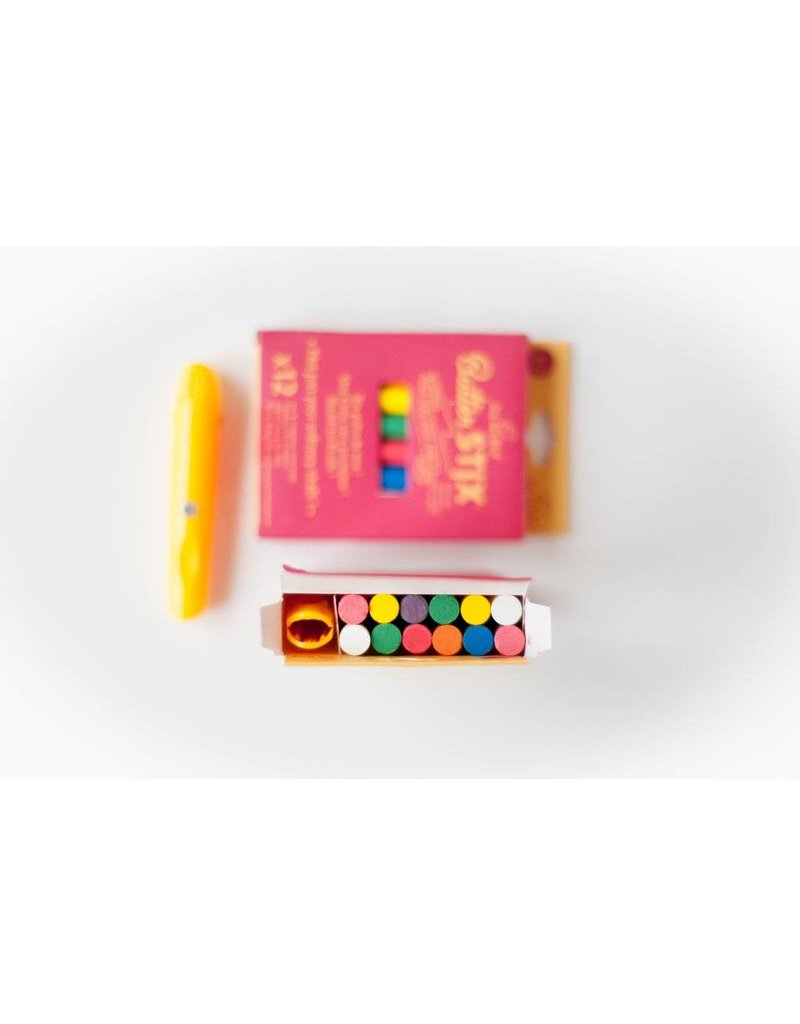 Butter Stix No Dust Chalk: Multi-Color Pack with holder