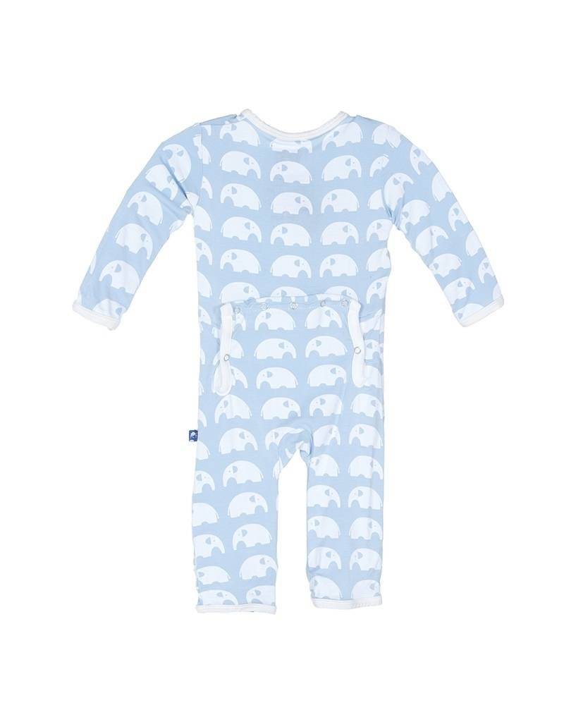 KicKee Pants Kickee Pants: Essentials Print Coverall in Pond Elephant