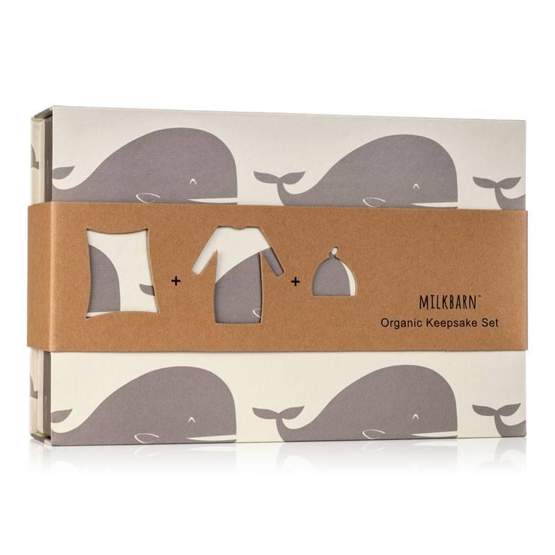 Milkbarn Keepsake Set in Grey Whale