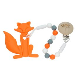 glitter and spice Clip On Silicone Teether - Fox
