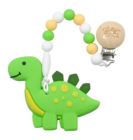 Clip On Silicone Teether - Dino