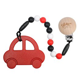 Clip On Silicone Teether - Car