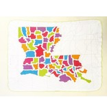Ellen Macomber Organic Louisiana Map Blanket