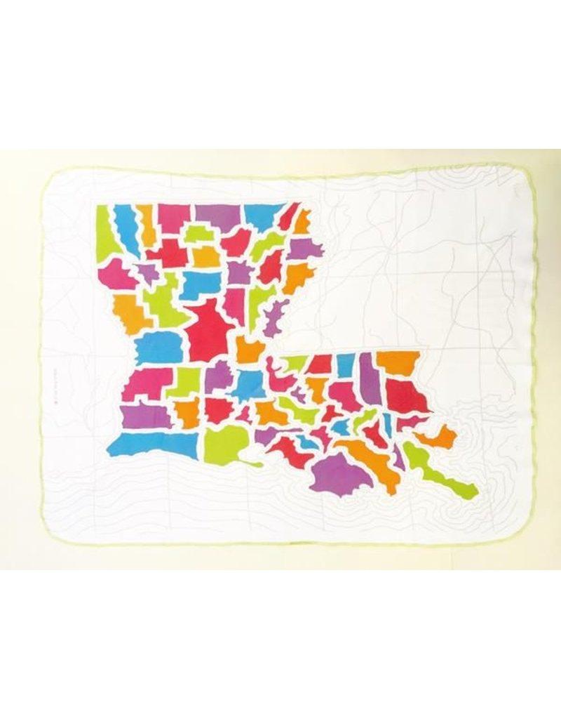 Ellen Macomber Organic Louisiana Map Blanket
