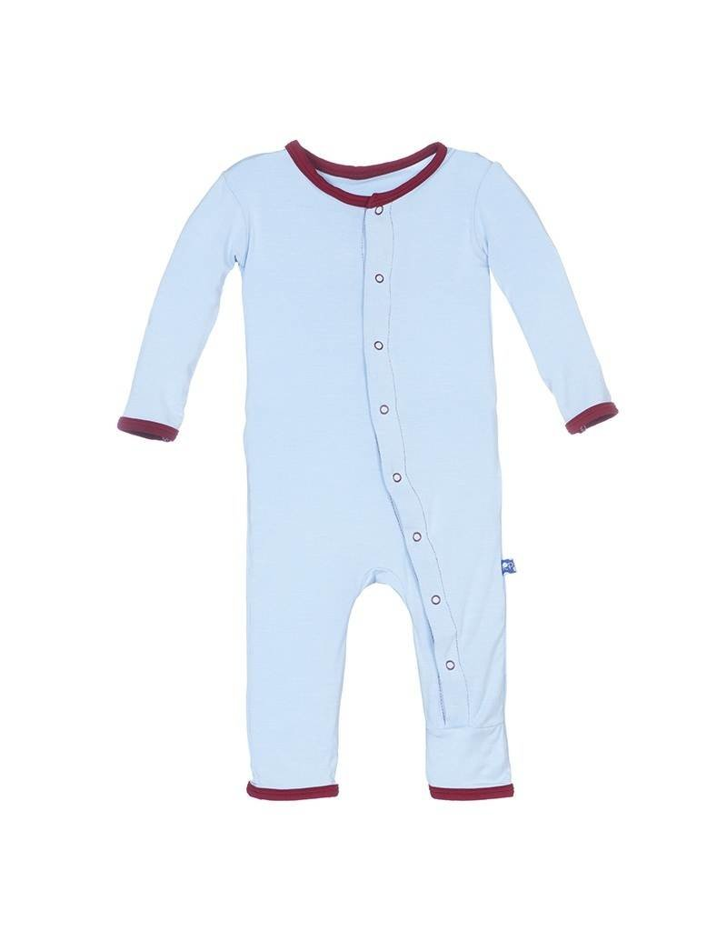 KicKee Pants Kickee Pants Holiday Layette Applique Coverall in Pond Sweet Heart