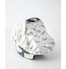 little unicorn Cotton Muslin Carseat Canopy in Gators