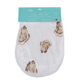 Little Hometown Aw Shucks! Oyster 2-in-1 Burp Cloth Bib