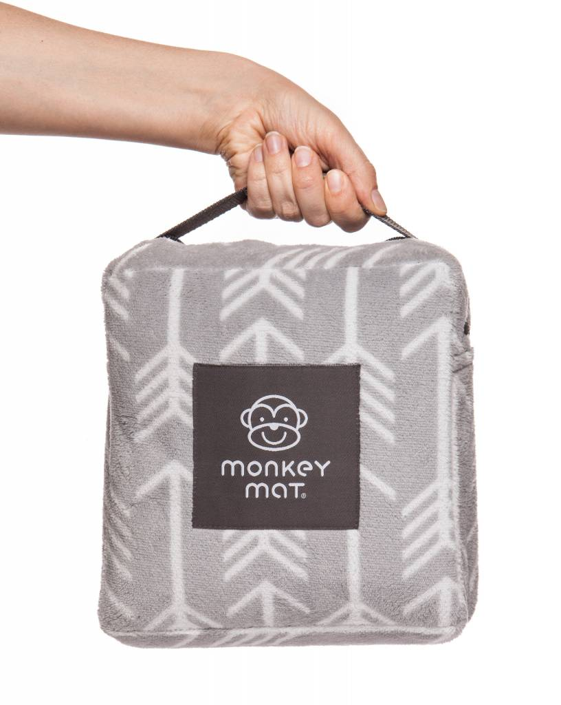 Monkey Mat Monkey Mat Plush Quilted in Gray Arrow