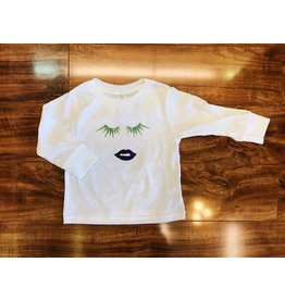 Le Petitee Mardi Gras Lips & Lashes Long Sleeve T-shirt