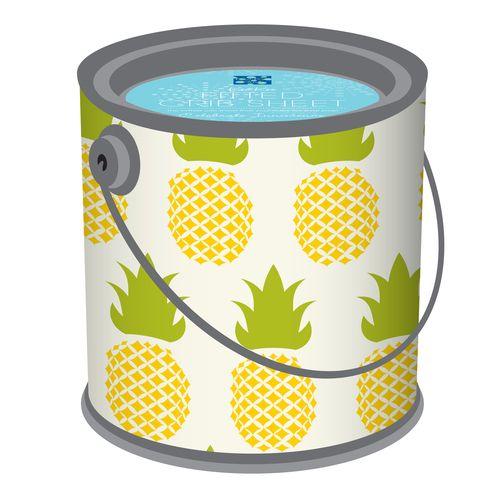 KicKee Pants Kickee Pants Fitted Crib Sheet in Natural Pineapple