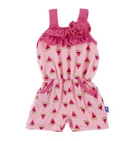 KicKee Pants Kickee Pants Flower Romper with Pockets