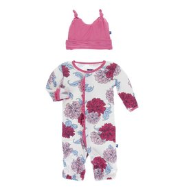 KicKee Pants Kickee Pants Layette Gown Converter and Knot Hat Set