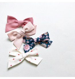 All the Little Bows Fabric Bow in Multi-Floral - Single