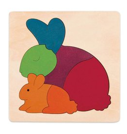 Hape Wooden Rainbow Rabbit Puzzle