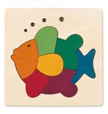 Hape Wooden Rainbow Fish Puzzle