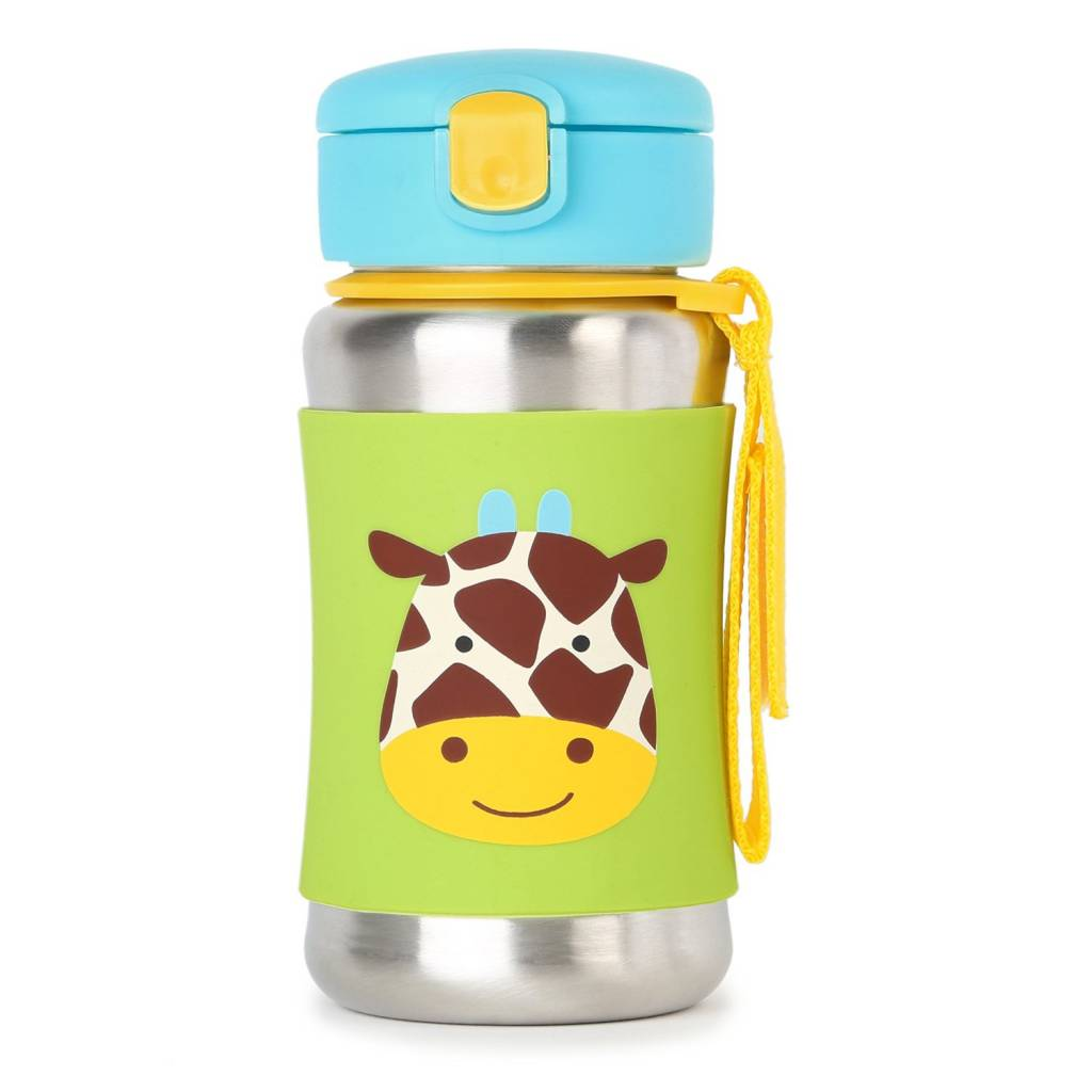 Skip Hop Zoo Stainless Steel Straw Bottle