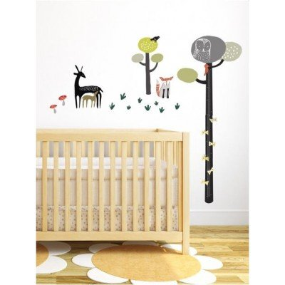 Wee Gallery Wee Gallery Quiet Forest Growth Chart Decal