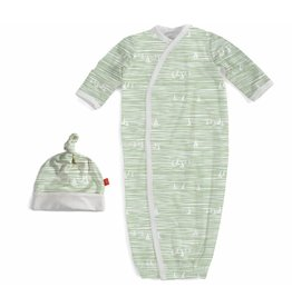 Magnetic Me Magnetic Me Modal Gown & Hat Set - Green Sailboats