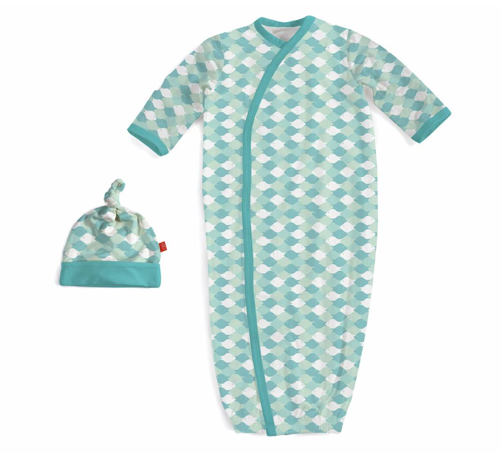 Magnetic Me Magnetic Me Modal Gown & Hat Set - Green Mod Fish