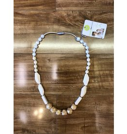Itzy Ritzy Itzy Ritzy Teething Necklace in Clementine