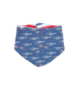 Tiny Twig Tiny Twig Organic Reversible Bandana Bib - Fish/Mariner Stripes