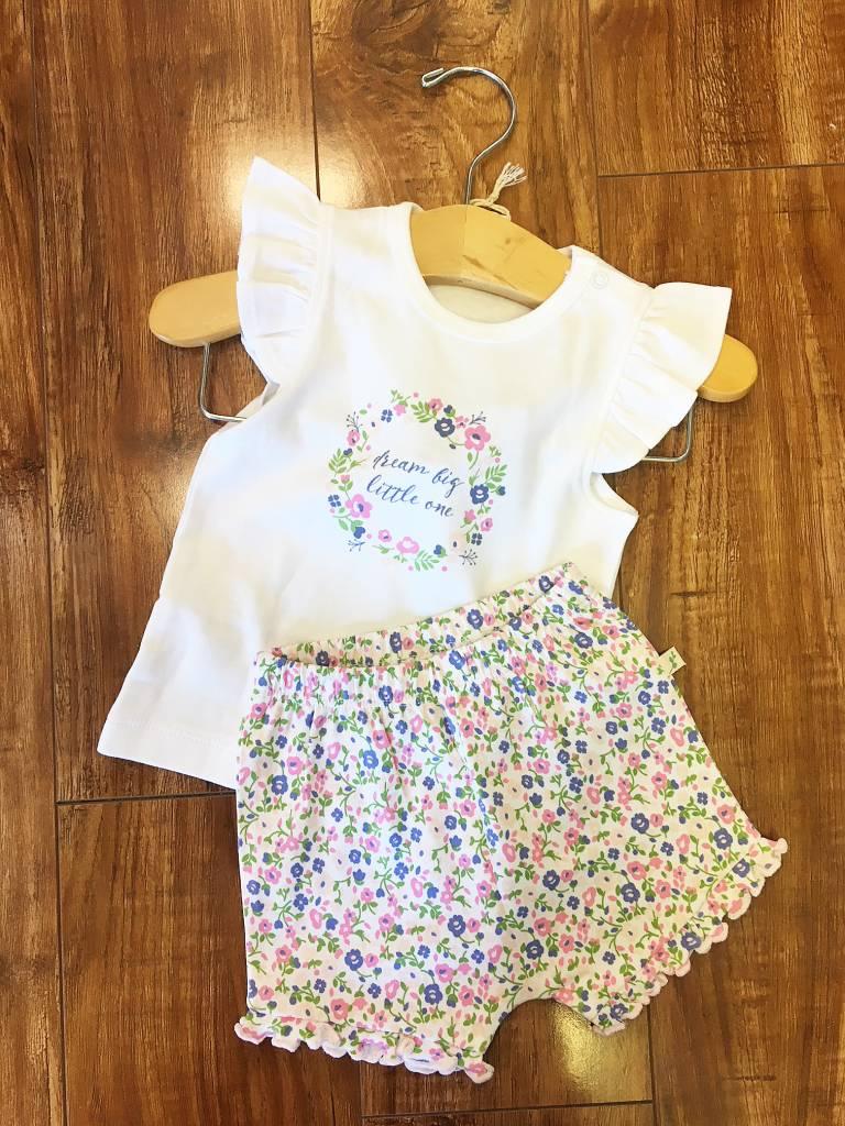 Tiny Twig Tiny Twig Organic Girl's T-shirt Set - Dream Big Little One